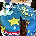 Gâteau Toys Story coupé Woddy and buzz cake