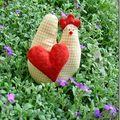 Oh, une poule dans mon jardin !!!!