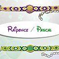 Bracelets brésiliens : raiponce et pascal