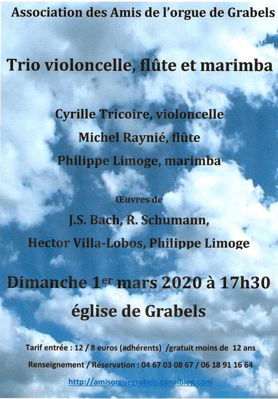 affiche concert du 1er mars 2020