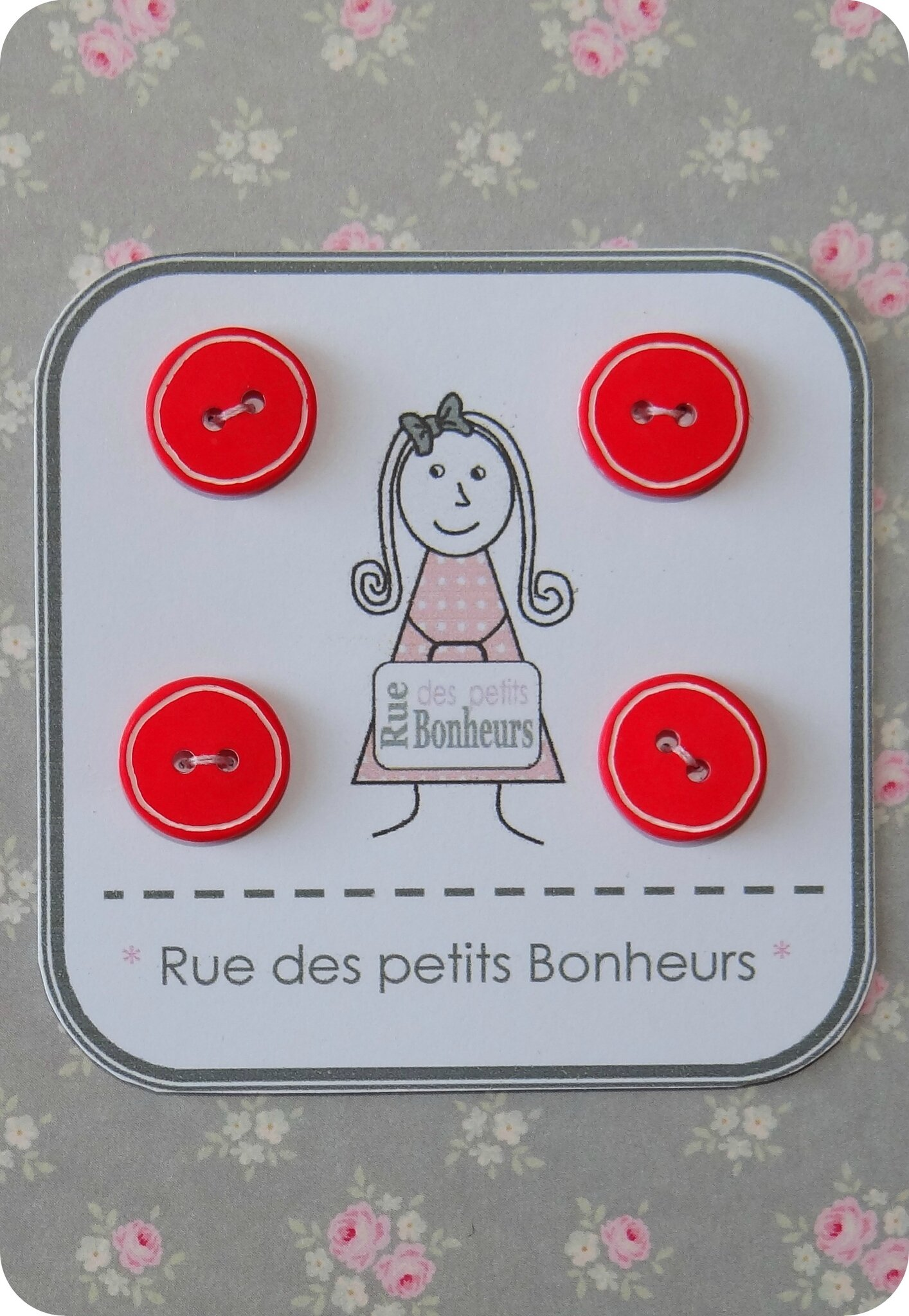 Bouton rond rouge