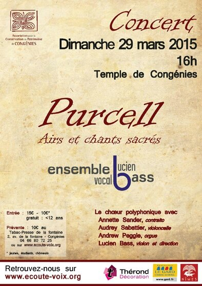 Concert Purcell CONGENIES