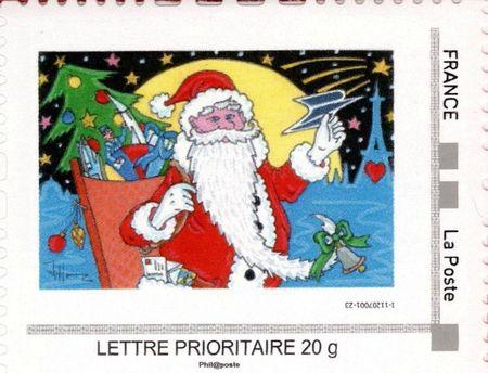 Timbre France Père-Noël