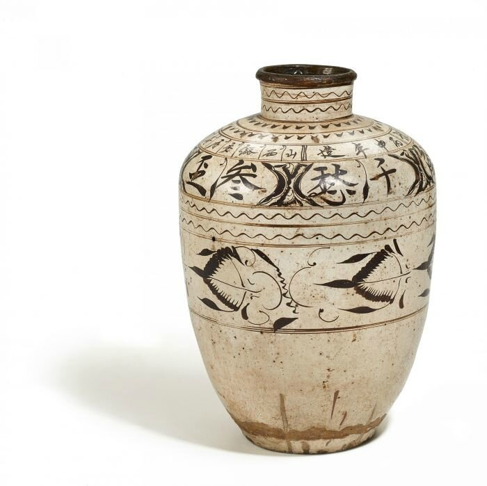 Huge wine storage jar, Cizhou, China, Ming Dynasty, dated 1596
