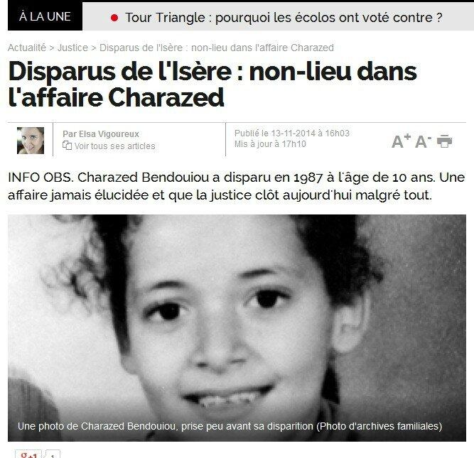 Enfants Disparus Et Tues En Isere Des Dossiers Sabotes