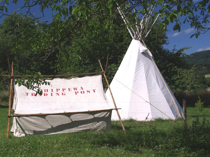 la tente de prospecteur trading post
