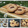 Cookies aux noix de pécan, amandes et chocolat