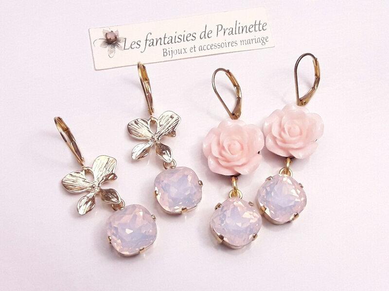 Boucles-d-oreilles-mariage-cristal-rose-opale