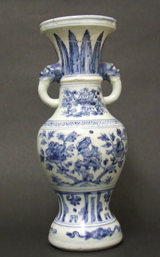 A Rare Ming Dynasty 'Temple Vase' Hongzhi Period (1488-1505)