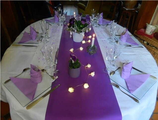 table mauve