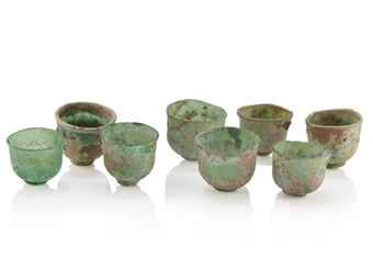 a_set_of_eight_miniature_transparent_green_glass_cups_tang_liao_dynast_d5379578h