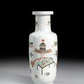 Vase en porcelaine famille verte, chine, dynastie qing, xviiième siècle
