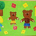 Fresque sur boucle d'or et les trois ours