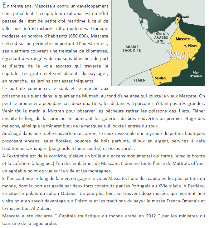 MASCATE - HISTOIRE