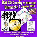 Dimanche 7 janvier 2018 - bal cd country et new line à latresne