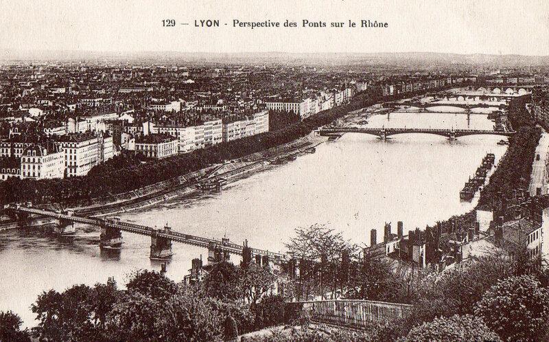 LYON-des ponts sur le Rhône