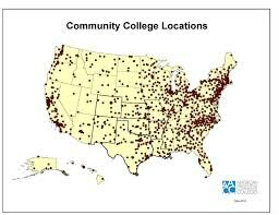 Community colleges locatoins throughout the