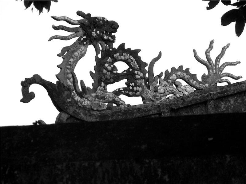 dragon en Noir et Blanc