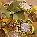 moulin à vent bouquet vert et blanc