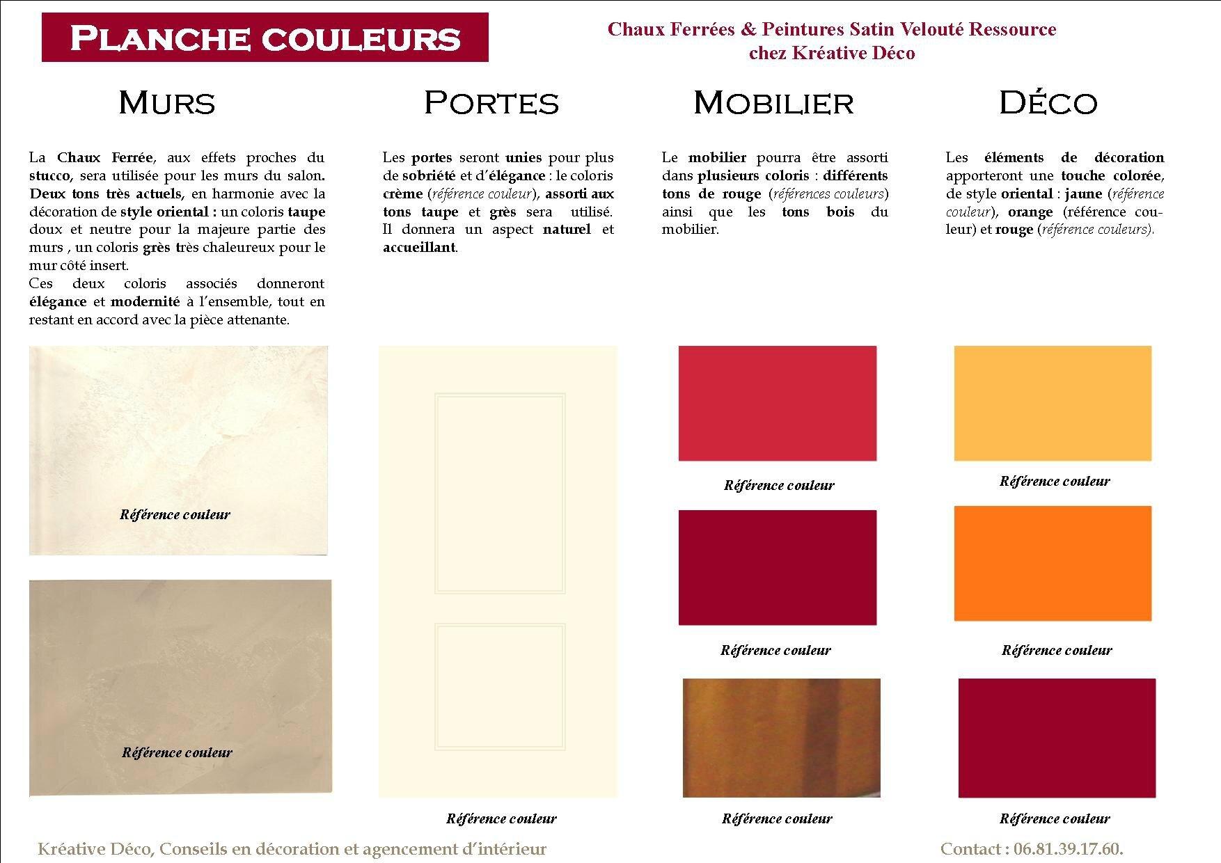 Planche couleurs