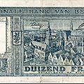 1944 1000frs Roi Albert 1er verso - Furne Ville Flamande
