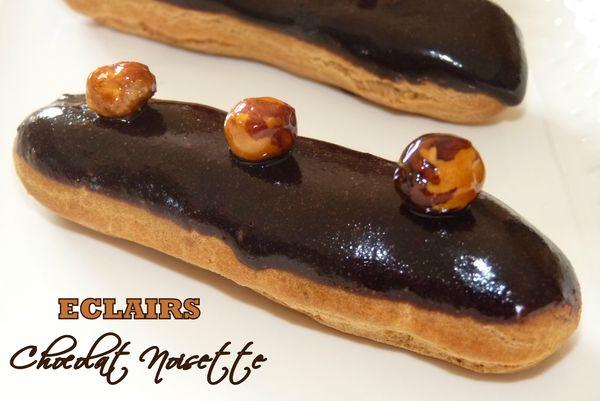 Eclairs chocolat noisette