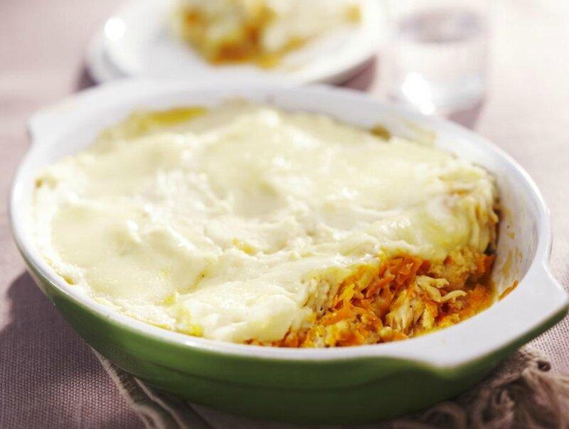 Hachis parmentier de dinde, carottes et mozzarella