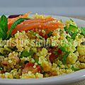 Salade de taboulé au saumon fumé
