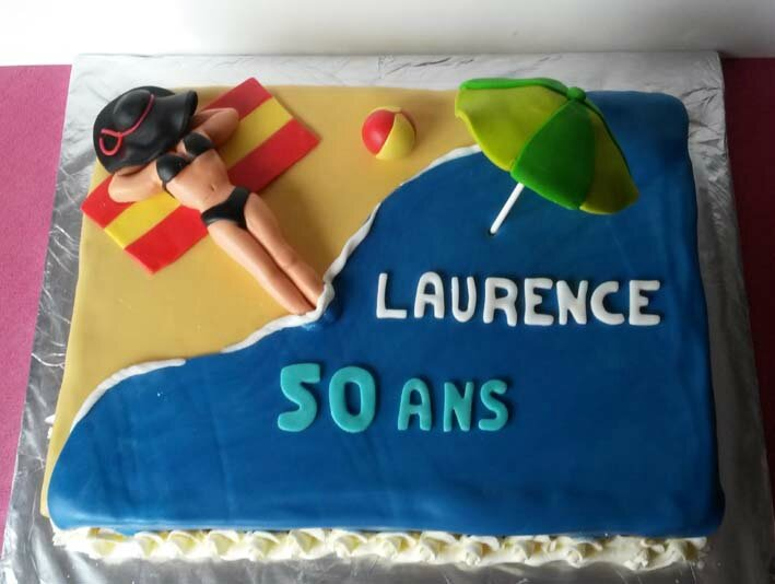 gâteau plage laurence