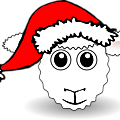 Sheep-01-Face-Cartoon-with-Santa-hat