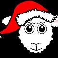 Sheep-01-Face-Cartoon-with-Santa-hat