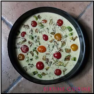 Clafoutis tomates courgette