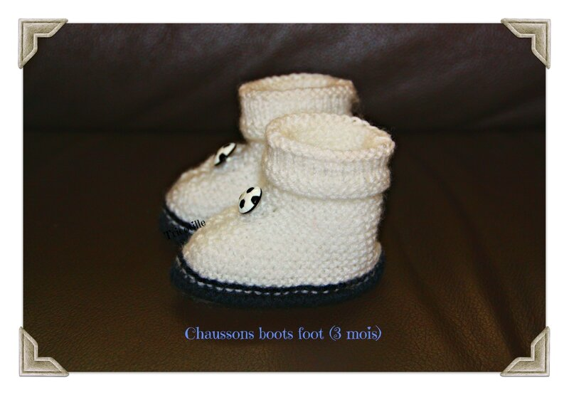 chaussons boots foot (3 mois)