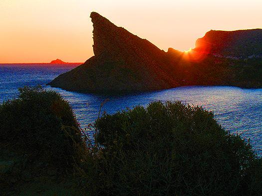 Île Verte: vue sur le Bec de l'Aigle et Riou