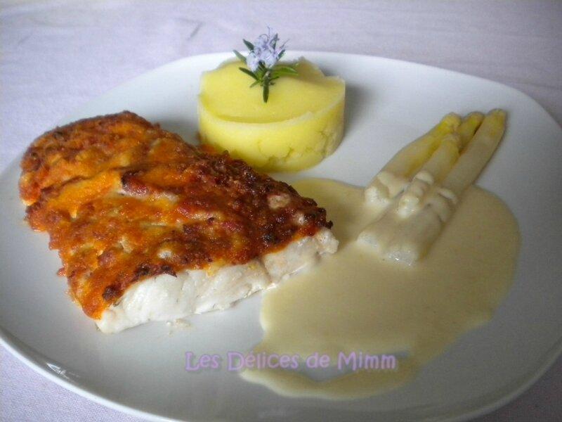 Filet de sandre en croûte de chorizo à la crème d'ail 5