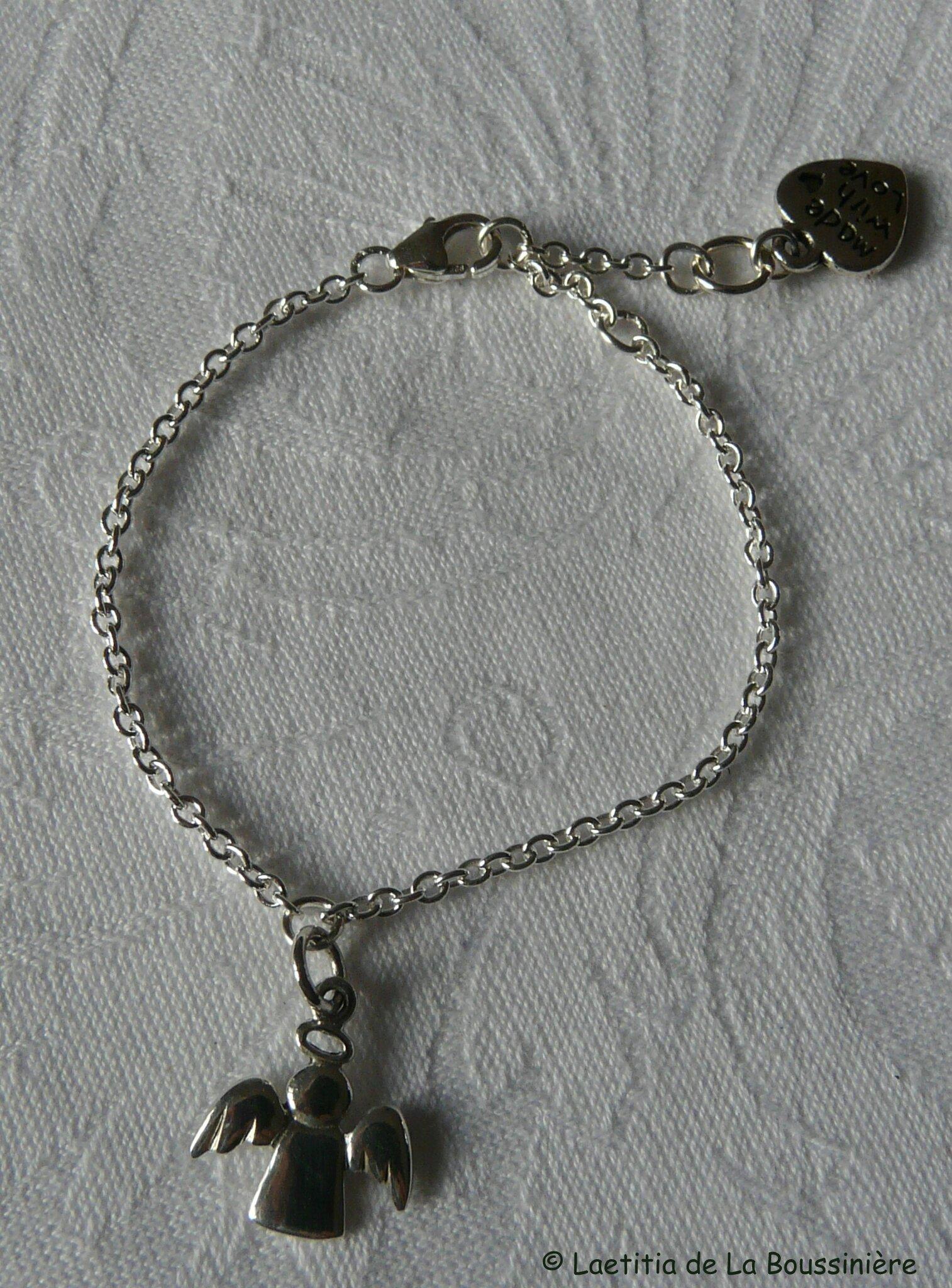 Bracelet mon Bon Ange (argent massif)