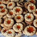 Biscuits à la confiture et à l'huile d'olive