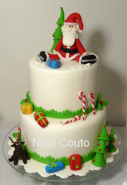 Les Gâteaux De Noël Déco En Pâte à Sucre Atelier Des Gourmandises