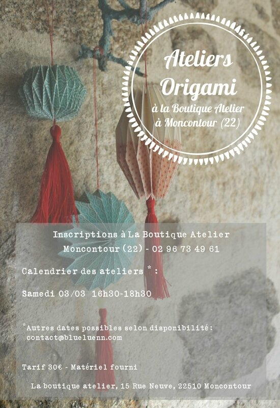Affiche atelier origami
