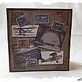 Carte kirigami pop-up : un avion bi plan pour les 80 ans de pierre