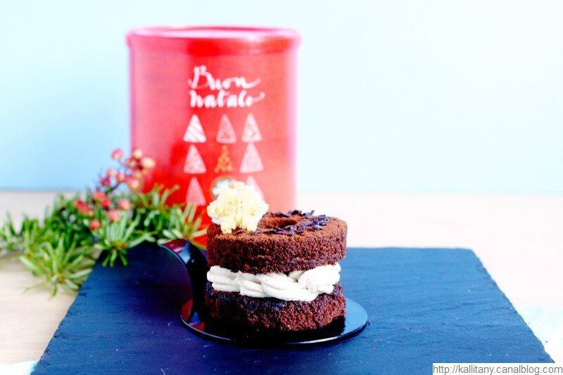 Blog culinaire Kallitany - Recette dessert couronne Noël chocolat café (11)