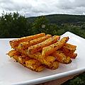 Frites de courge butternut au parmesan (cuisson au four)