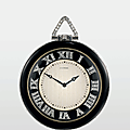 An art deco platinum, diamond and enamel pocket watch, by cartier