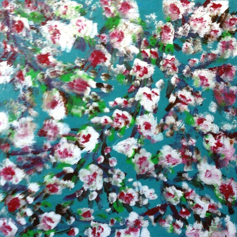 Cerisier Fleurs 40X40