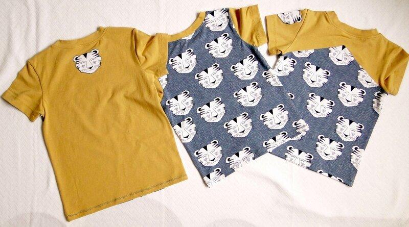 T-shirts tigres dos