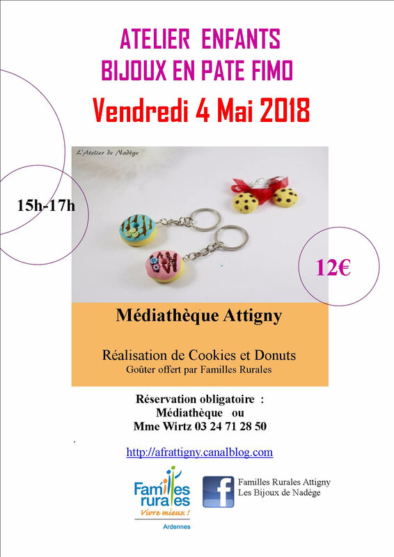 affiche ateliers Fimo 4 mai 2018