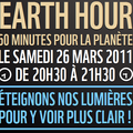 26/03/2011 éteignons nos lumières pour la planète et pour tout les animaux qui vivent la nuit la lumière fait des dégâts aussi