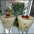 Ananas confit au mascarpone