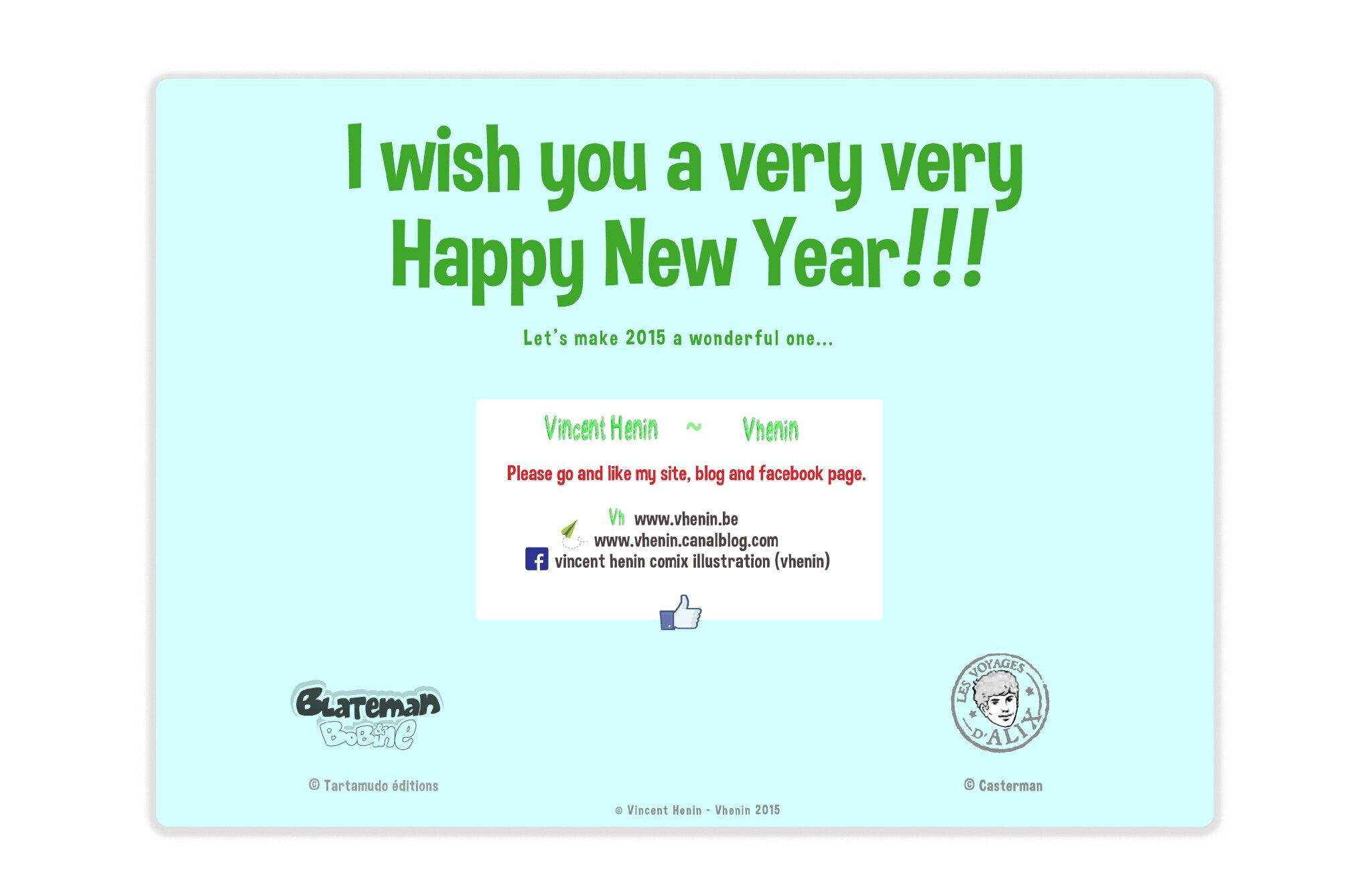 Blateman et Bobine - Tarek-Vhenin- Tartamudo éditions - HAPPY NEW YEAR 2015