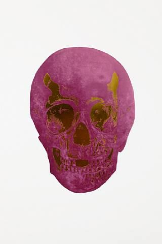 Damien Hirst, The Dead Oriental Gold Loganberry Pink Skull , 2009